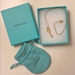 Tiffany & Co Gold heart Key necklace